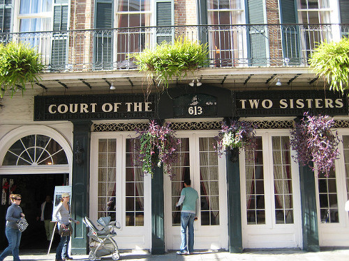 "Court of Two Sisters Restaurant. Ignore the ""the."""